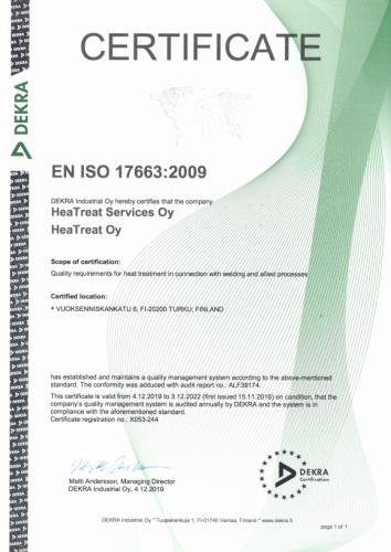 Heatreat En Iso 17663 2009 354x500
